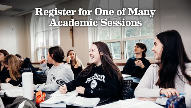 register for one of many academic sessions